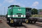 Auch die V 60 106 006 der ITL Dresden wird zur Schau gestellt.